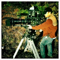 James Suttles, Director of Photography @ Camera on the set of Alone Yet Not Alone