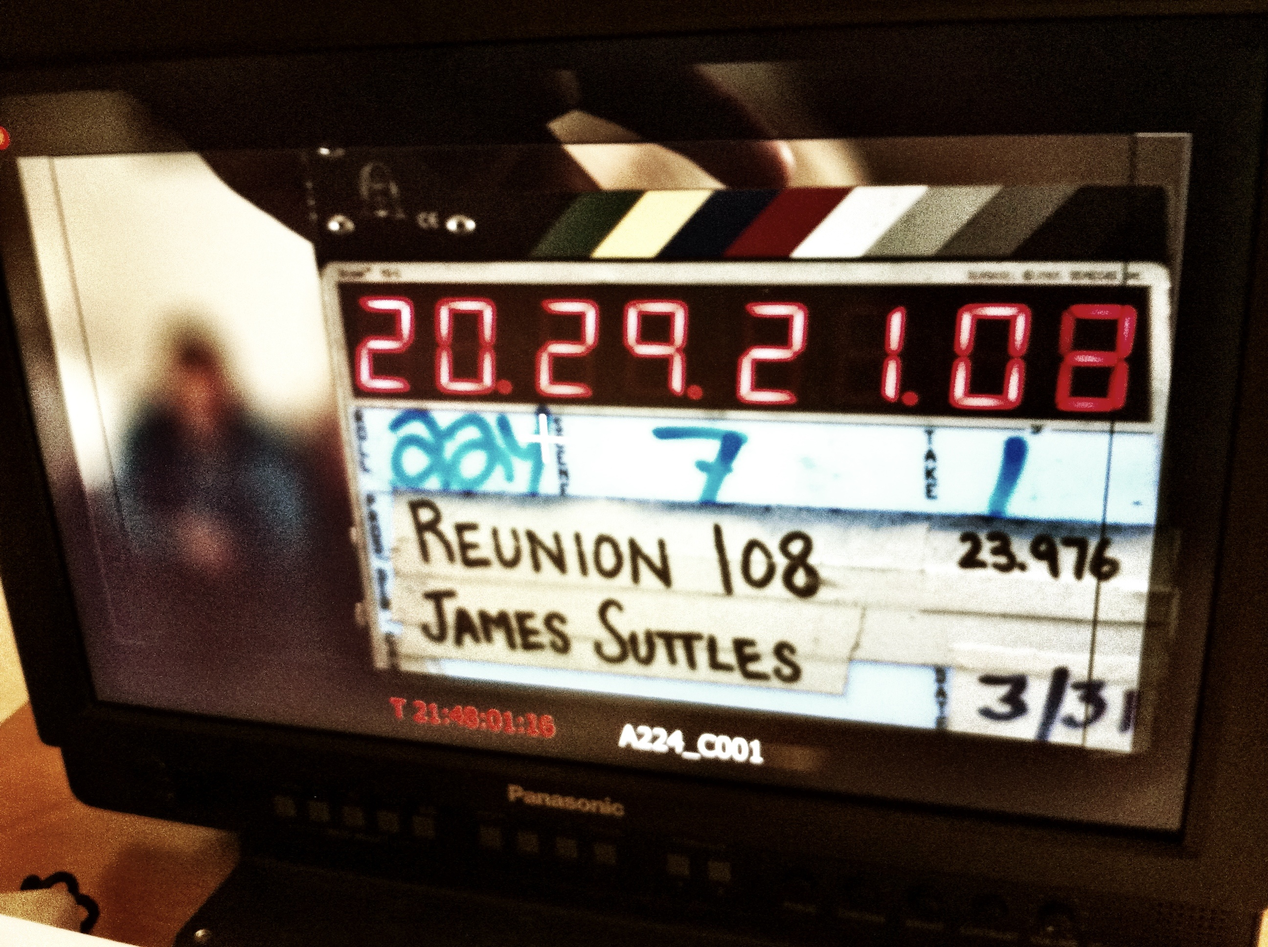 "Wrapped production on ""Reunion 108"""