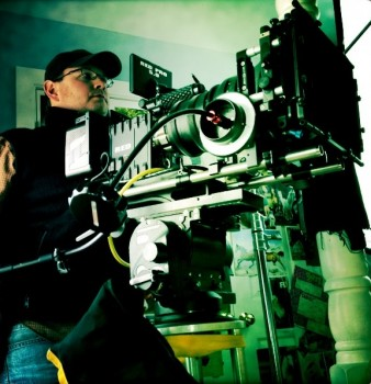 Director of Photography, James Suttles behind the camera on the set of Hurry Scurry 2013